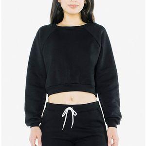American Apparel Fleece Raglan Cropped Sweatshirt